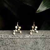 moorigin earrings 'snow days' gold xs