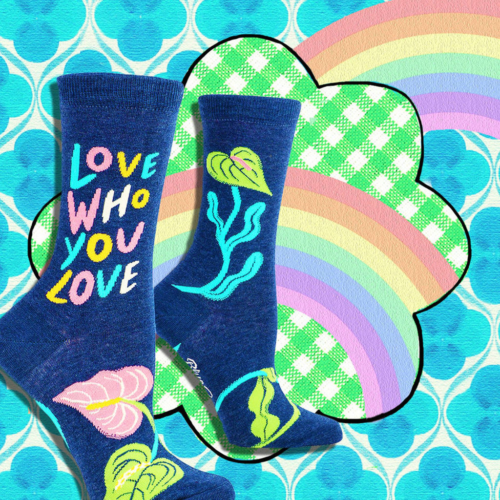 'love who you love' crew socks