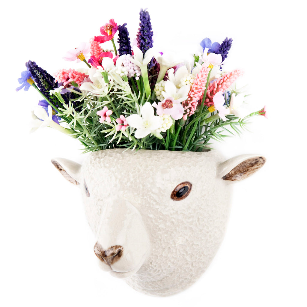 quail ceramics wall vase 'southdown sheep'