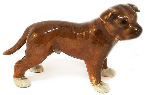 miniature ceramic 'staffordshire bull terrier' - the-tangerine-fox