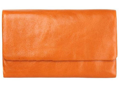 status anxiety wallet 'audrey' burnt orange