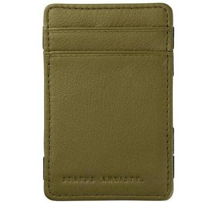 status anxiety wallet 'men's flip' khaki