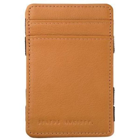 status anxiety wallet 'men's flip' tan