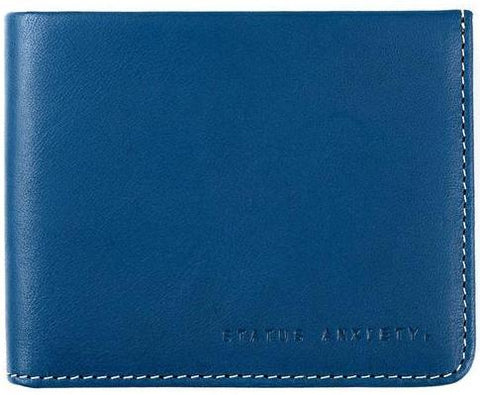 status anxiety men's wallet 'alfred' blue