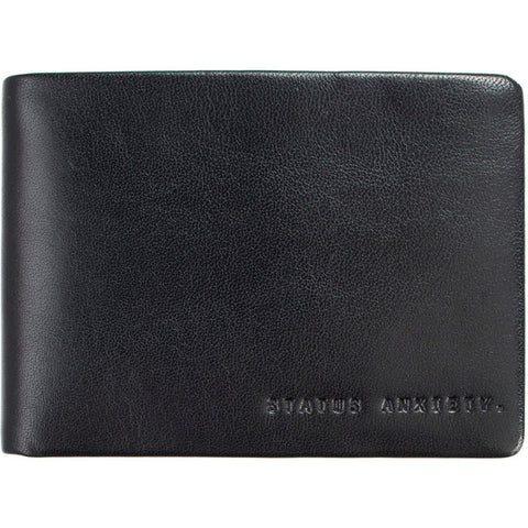 STATUS ANXIETY 'MEN'S JONAH' WALLET BLACK