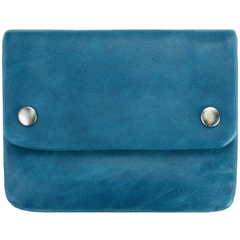 status anxiety wallet 'norma' blue