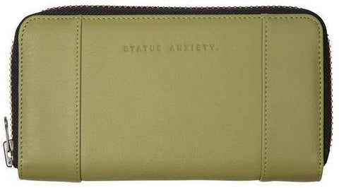 status anxiety wallet 'state of flux' olive
