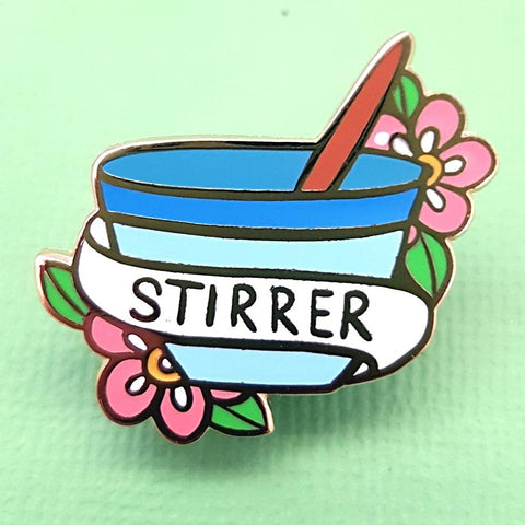 JUBLY-UMPH 'STIRRER' ENAMEL PIN