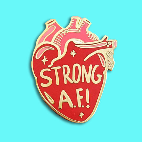 jubly-umphg enamel pin strong AF