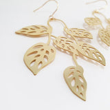 denz & co. earrings 'swiss cheese dangles' gold