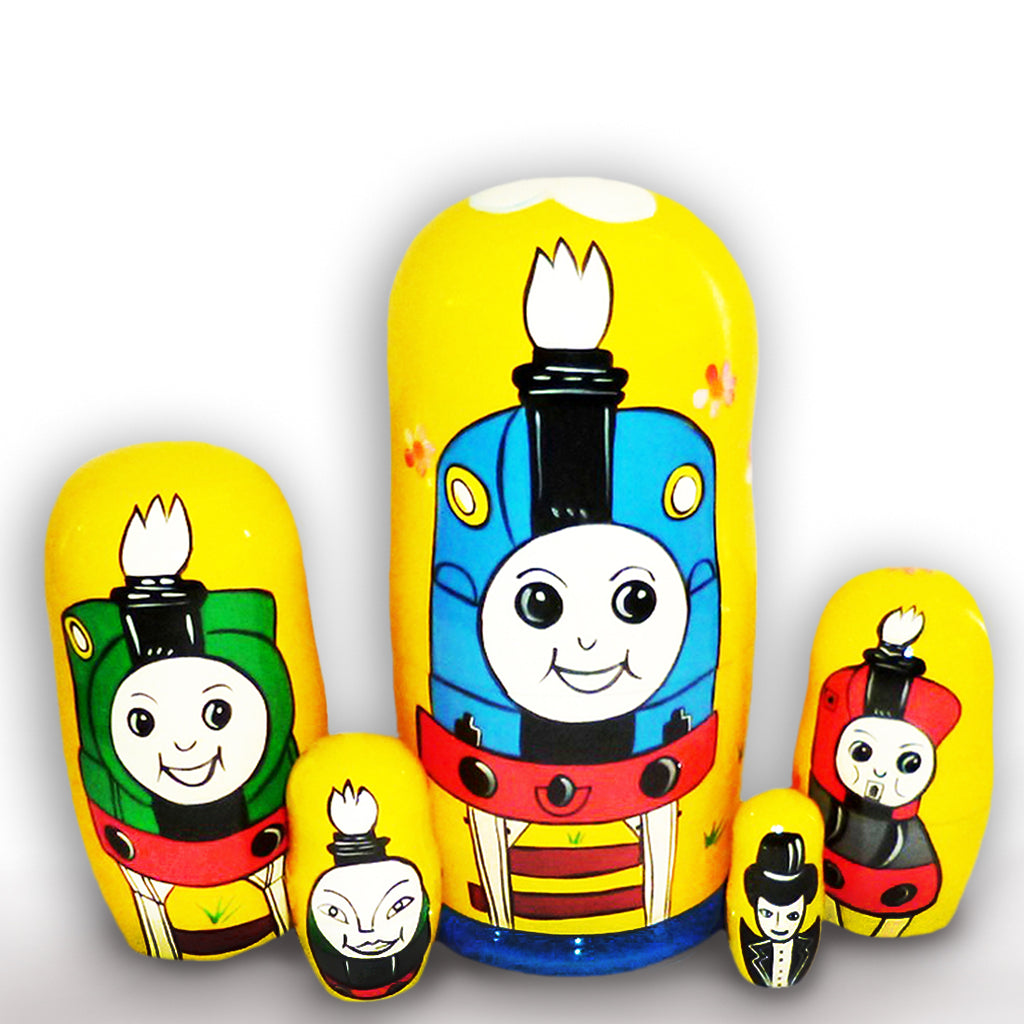 russian babushka  dolls 5 set 'thomas the tank engine'
