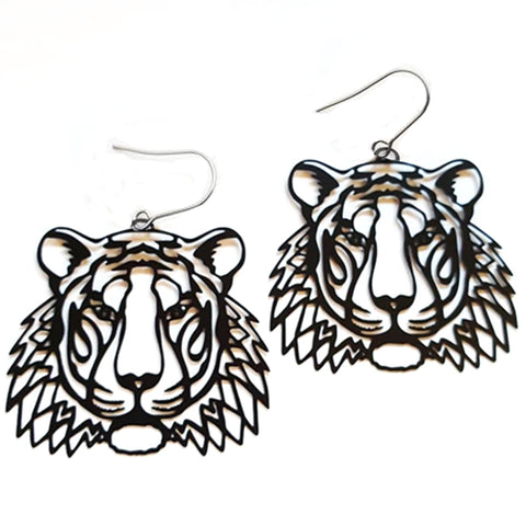 denz & co. earrings 'tiger dangles' black