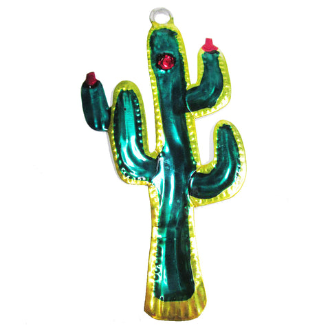mexican tin christmas decoration 'cactus'