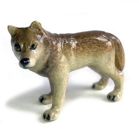 miniature ceramic 'wolf' grey