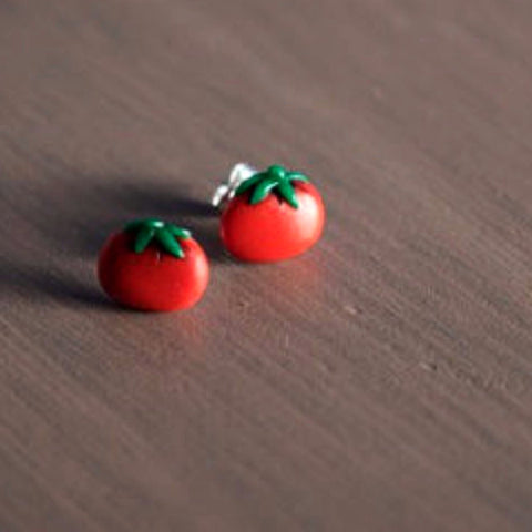 PECULIAR HARVEST 'JUICY TOMATO' EARRINGS