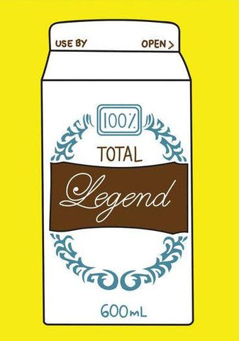 ahd paper co. greeting card total legend