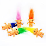 troll doll 'peach hair' 3cm