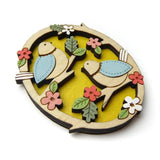 layla amber brooch 'two little birds'