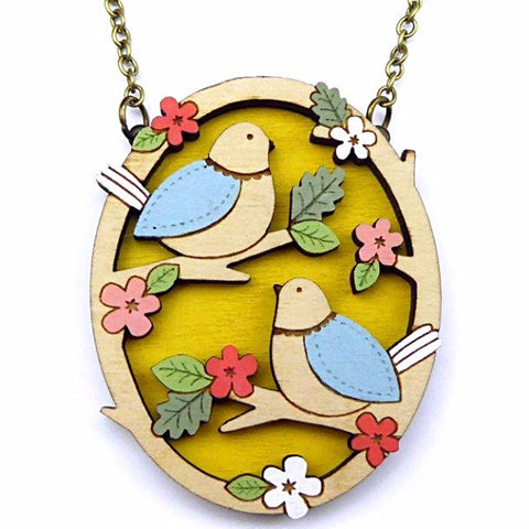 LAYLA AMBER 'TWO LITTLE BIRDS' NECKLACE