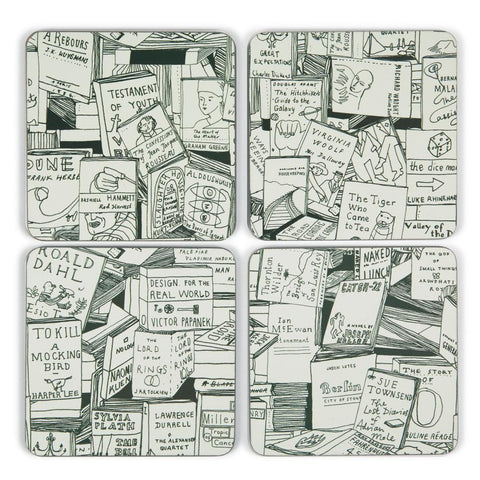 u studio coasters 'books' 4 set