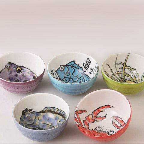 concept japan 5 bowl set 'umimonogatari' large