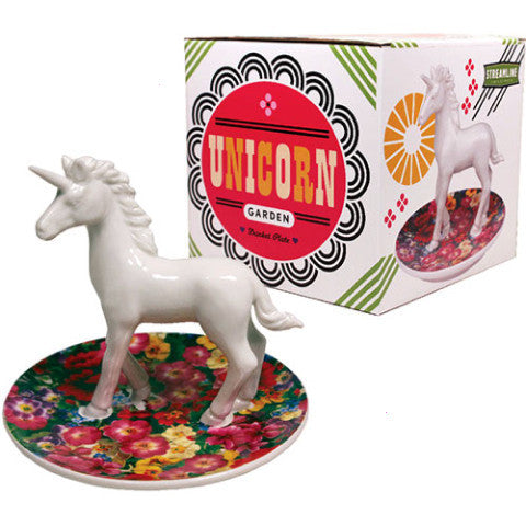 streamline nyc trinket plate 'unicorn garden'