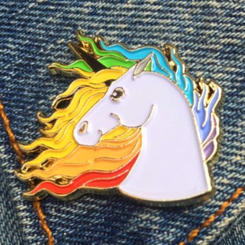THE FOUND 'UNICORN' ENAMEL PIN