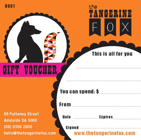 gift voucher - the-tangerine-fox