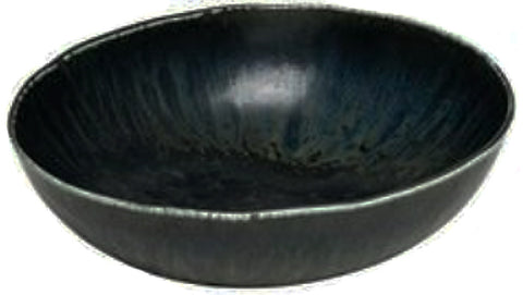 concept japan bowl 'wabisabi' medium oval black - the-tangerine-fox