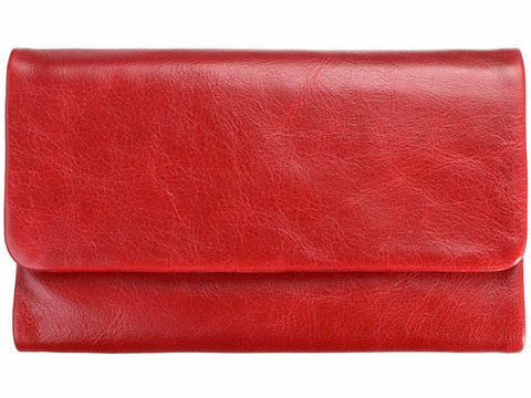STATUS ANXIETY 'AUDREY' WALLET RED