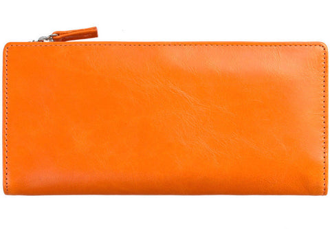 status anxiety wallet 'dakota' burnt orange