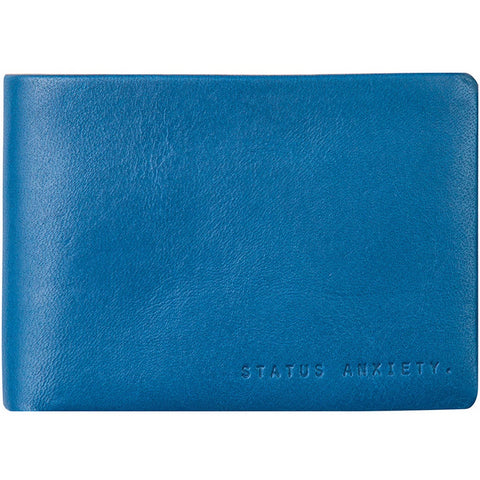status anxiety men's wallet 'jonah' blue