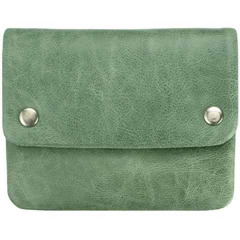 status anxiety wallet 'norma' green