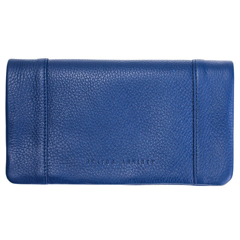 status anxiety wallet 'some type of love' blue