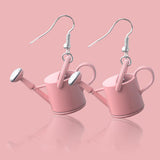 sugar earrings 'watering can' soft pink