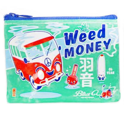 blue q coin purse 'weed money'