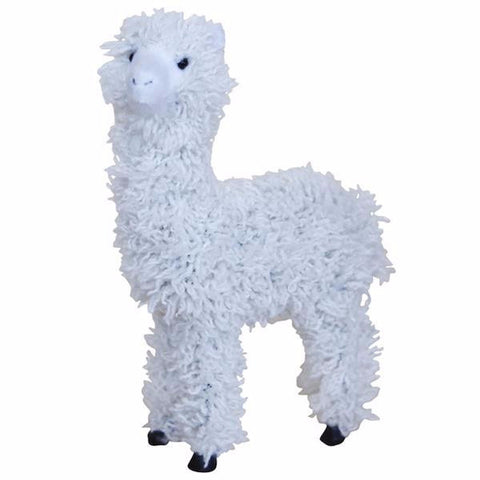 FURRY ALPACA FIGURINE WHITE