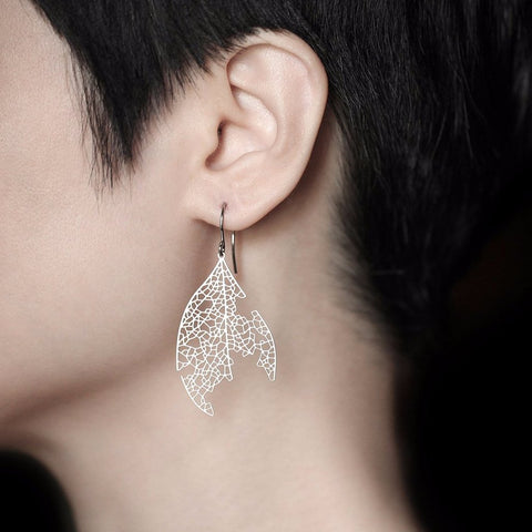 moorigin earrings 'white ash' silver small