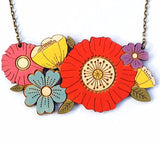 layla amber necklace 'poppy bouquet' - the-tangerine-fox