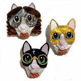 what willow did brooch set 'harry potter cats' mini
