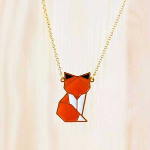 HUG A PORCUPINE 'WOODLAND FOX' NECKLACE - the-tangerine-fox