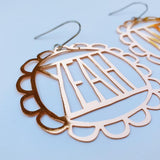 denz & co. earrings 'yeah nah dangles' rose gold
