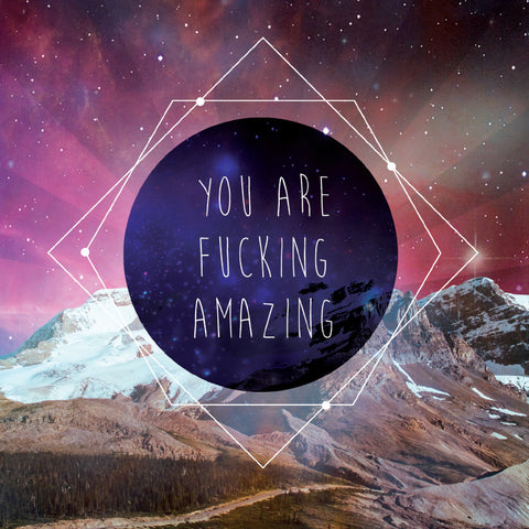 la la land greeting card 'you are f*cking amazing'
