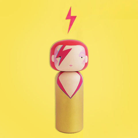 SKETCH INC. 'ZIGGY STARDUST' KOKESHI DOLL