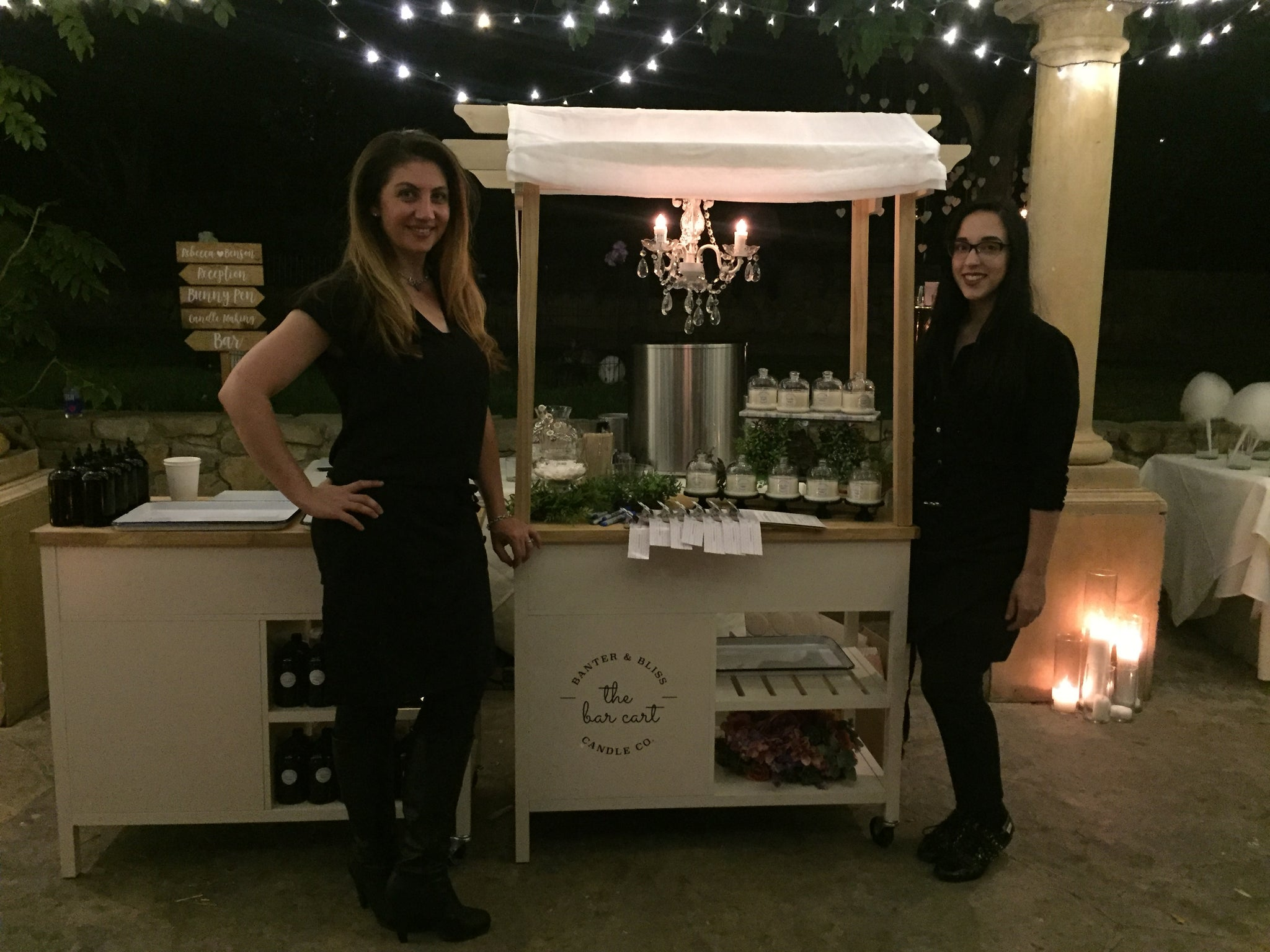 The Banter & Bliss Candle Co. Bar Cart™: Olfactory Experience Meets Experiential Favors