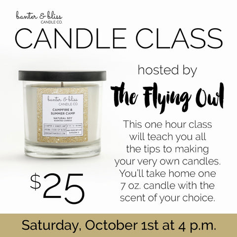 Candlemaking at The Flying Owl!
