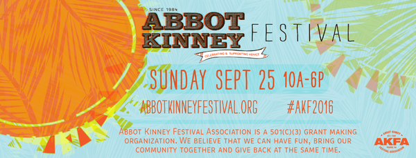 Banter & Bliss at Abbot Kinney Festival 2016