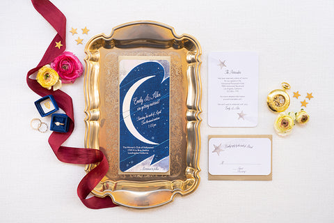 Whimsical Celestial Wedding Ideas from Glamour & Grace Blog featuring Banter & Bliss Candle Co.