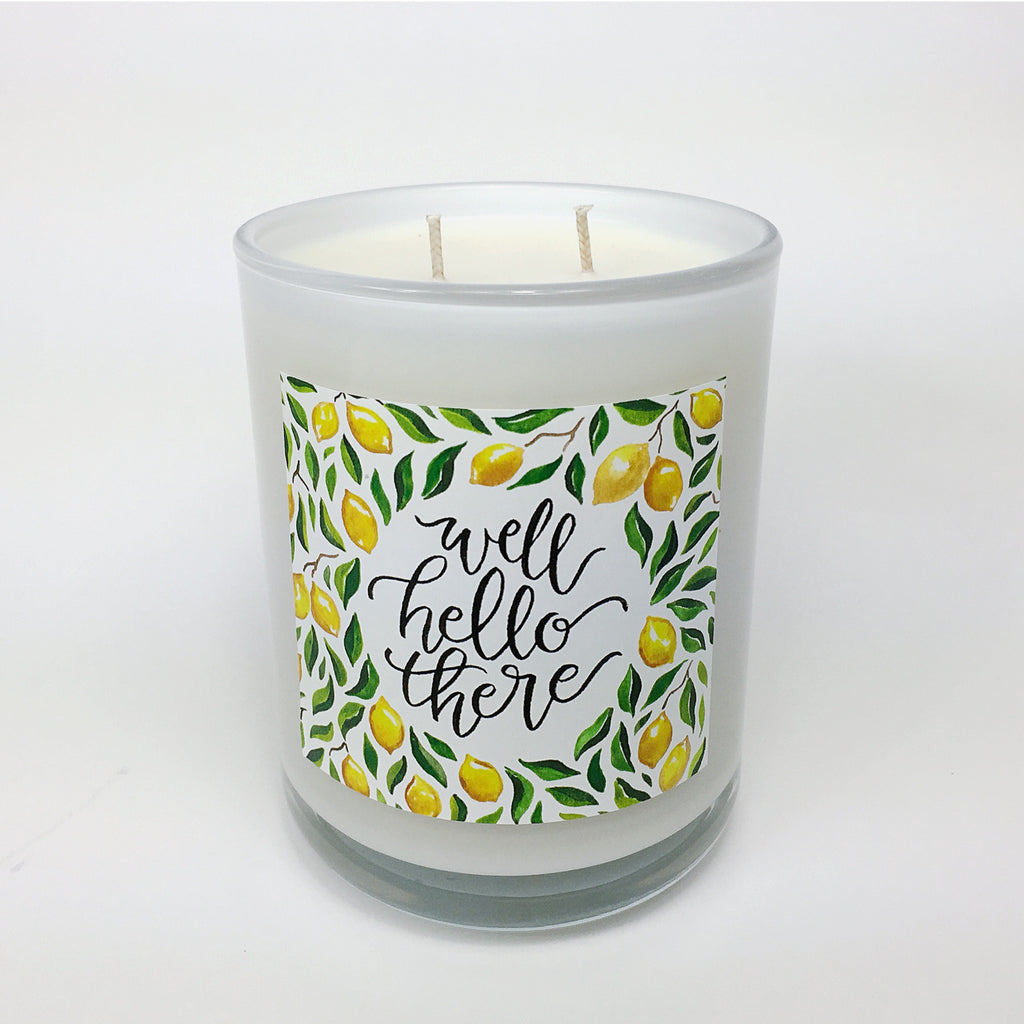 WELL HELLO THERE. Lemon Verbena Coconut Wax Blend Candle.