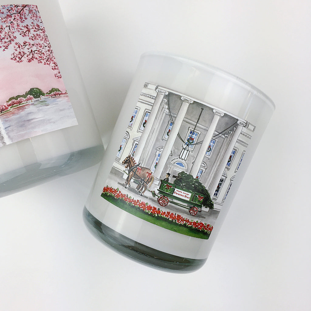 HOLIDAY AT THE WHITE HOUSE. Fraser Fir Coconut Wax Blend Candle.